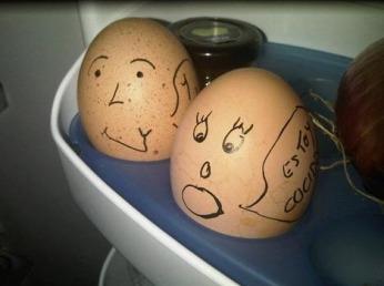 Huevos cocidos a la ux