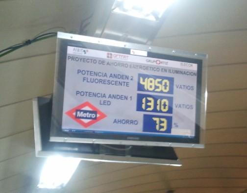 Ahorro energético en el Metro de Madrid